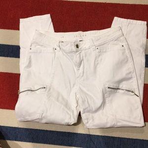 White House Black Market Jeans - WHBM Skinny crop white jeans size 8